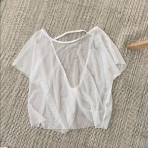 Sheer mesh cover top (beach or workout)